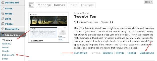 Activate Twenty Ten Theme in WordPress