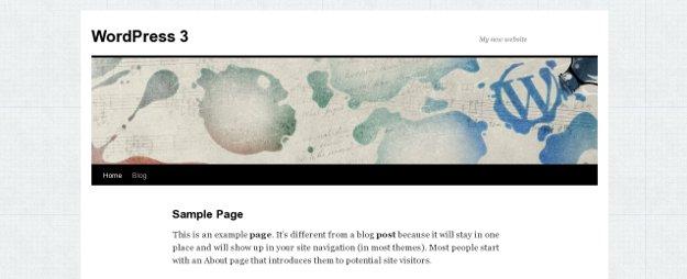 WordPress Twenty Ten Theme with Custom Gray Background