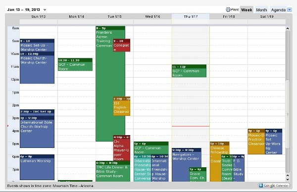 Google Calendar Used to Schedule Rooms