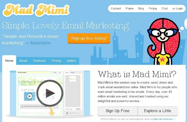 Build your email list with Mad Mimi