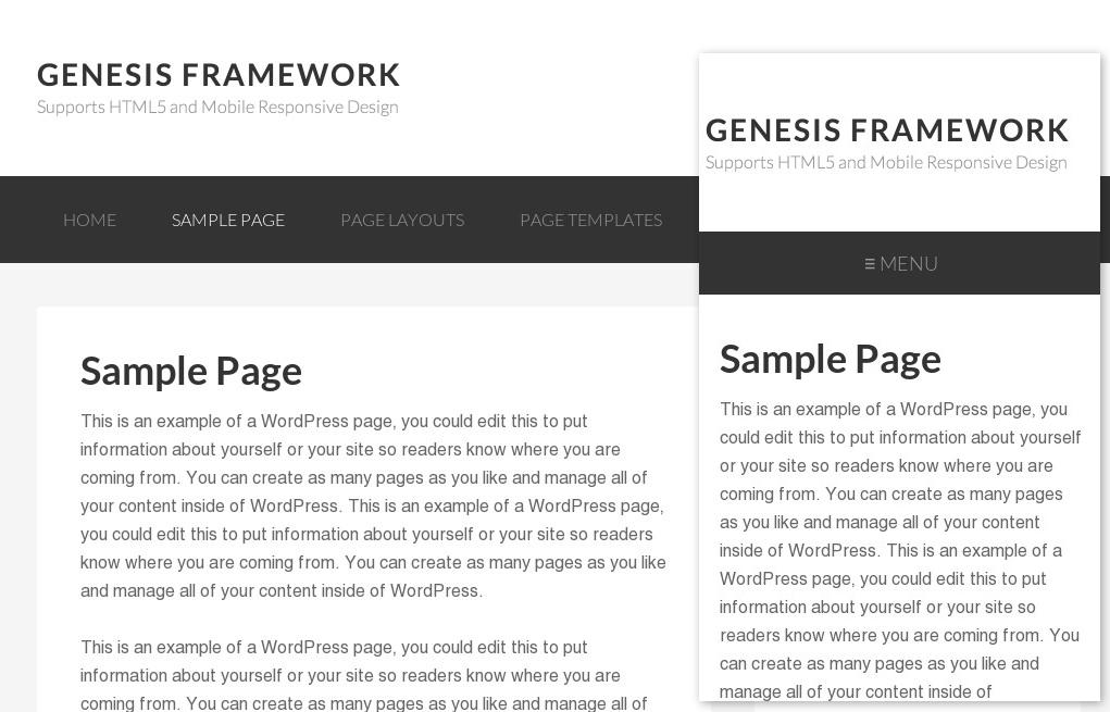 mobile responsive website navigation