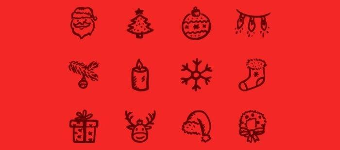 Merry Icons from Hand-Drawn Goods
