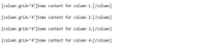 add four columns to your WordPress post