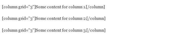 add three columns to your WordPress post