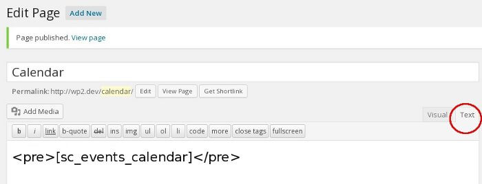 Shortcode with pre tags