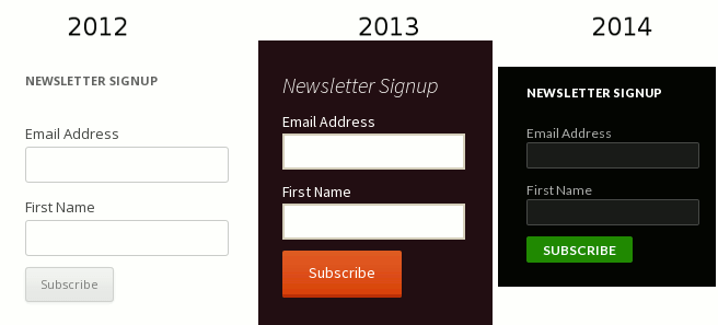 mailchimp form extra styles