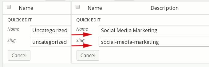 edit post category uncategorized