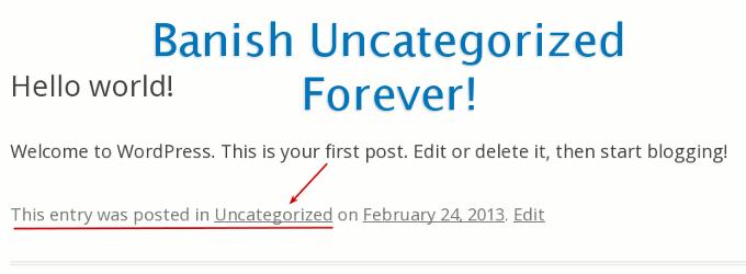 remove uncategorized post category