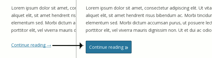turn a text read more link into a button