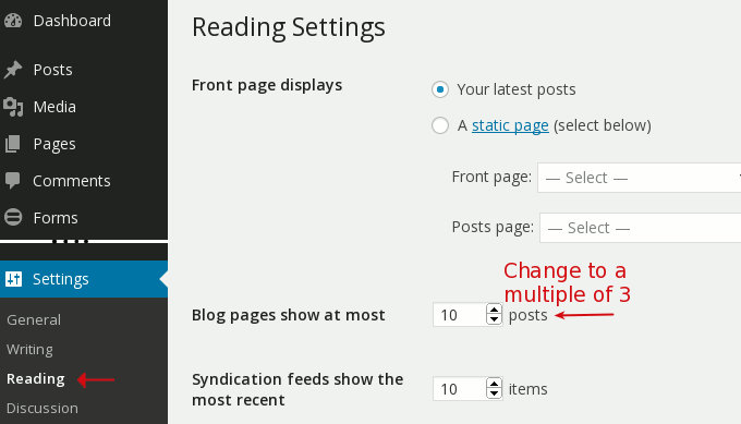 archive posts per page