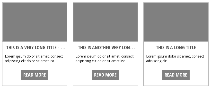 equal height posts in chrome and firefox