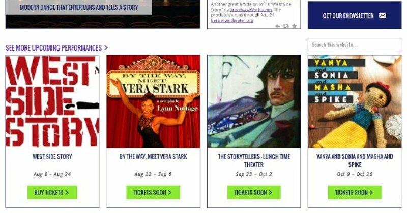 nonprofit theater custom wordpress website redesign