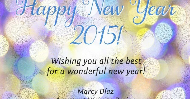 Happy New Year 2015! Wishing your all the best for a wonderful new year!