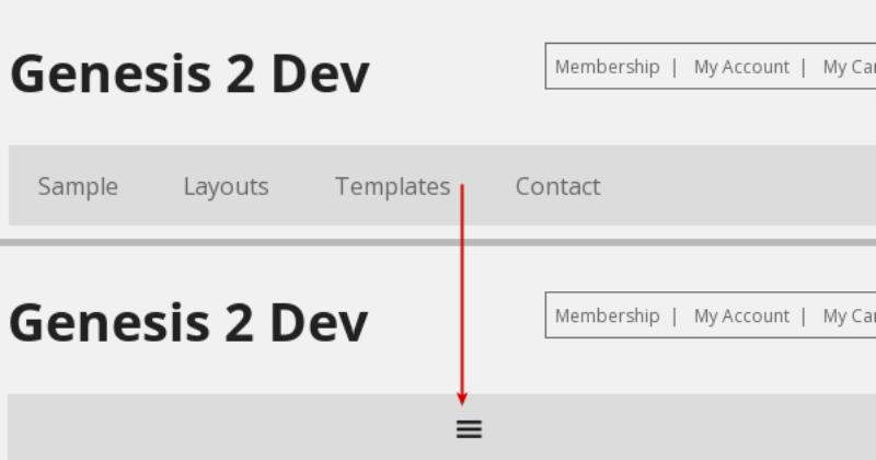 styled header menu with primary responsive menu