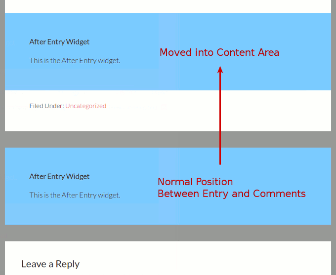 move genesis after entry widget into post entry content image