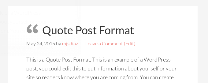 icons before title for post formats