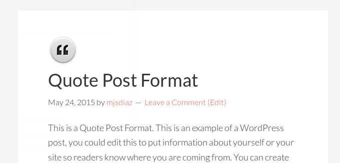 default post format image icon