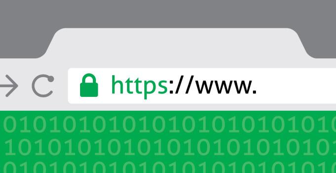 green padlock showing secure https website