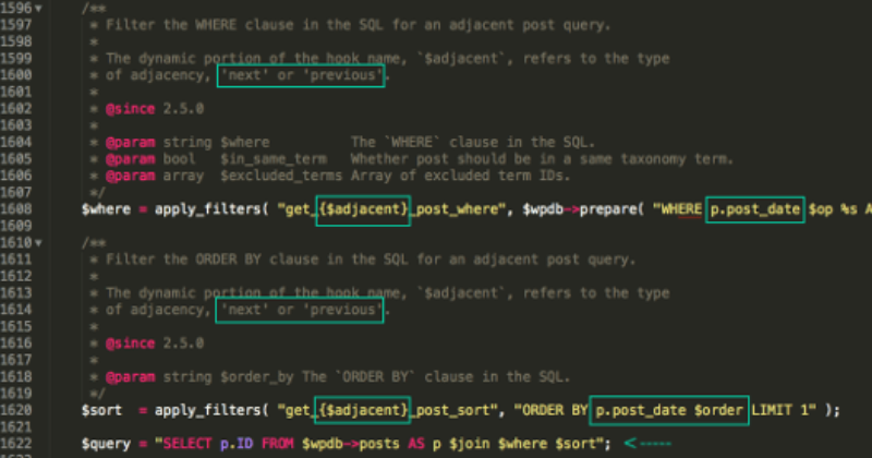 wp includes link template