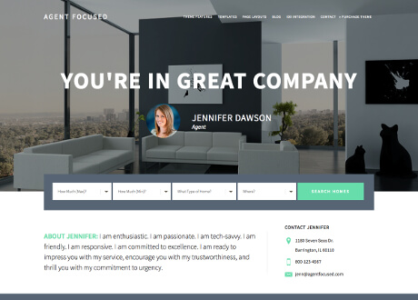 custom genesis theme agent focused for real estate agents