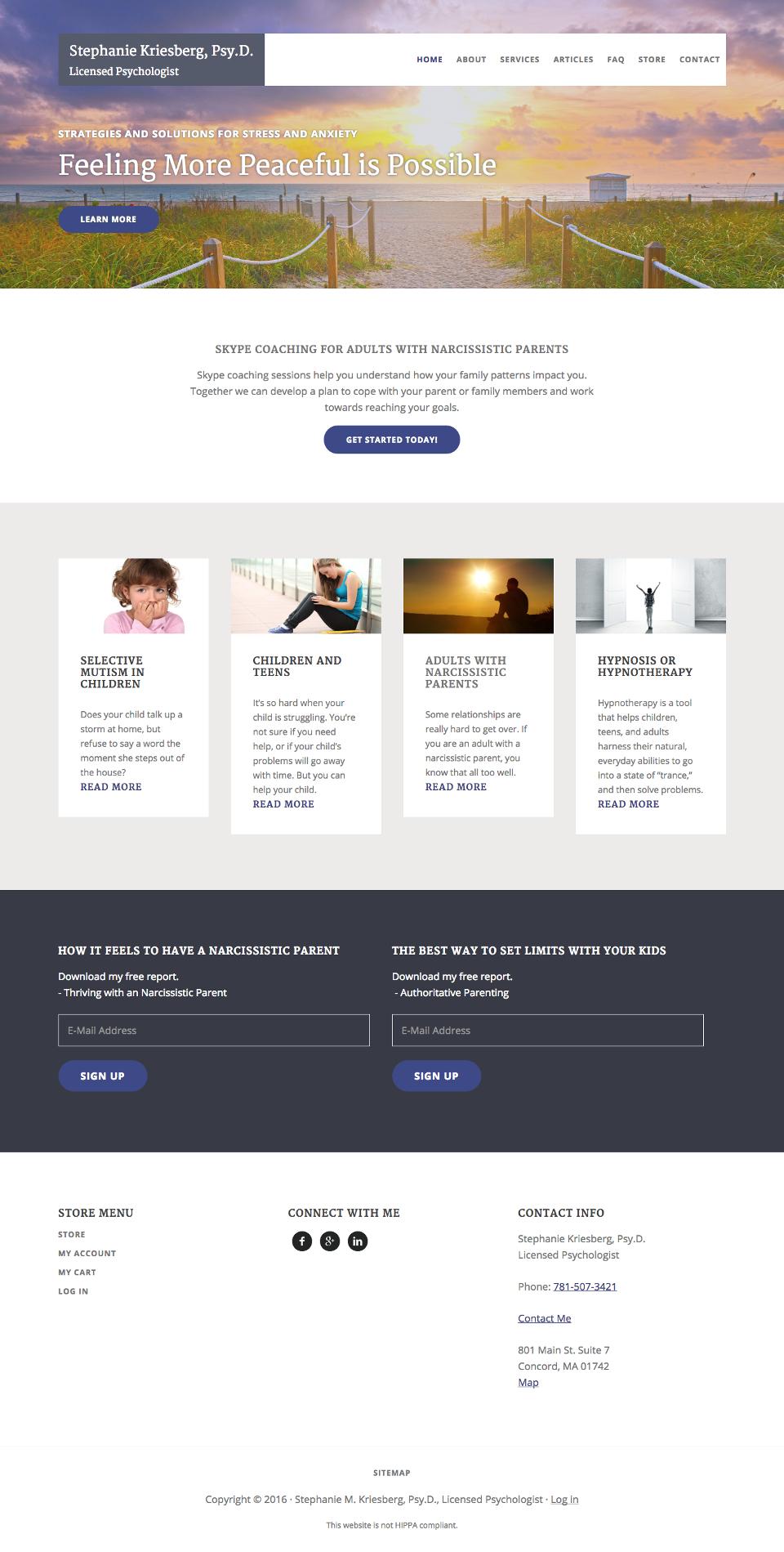 genesis theme customization for psychologists website