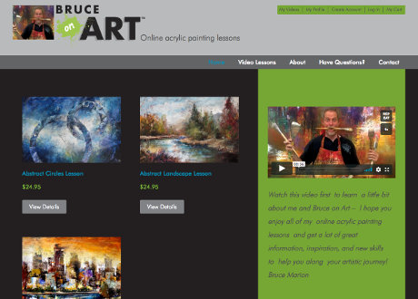 genesis custom ecommerce theme for artist selling online painting videos