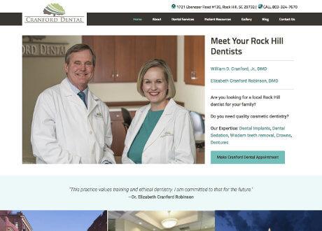 dental office website genesis theme customization