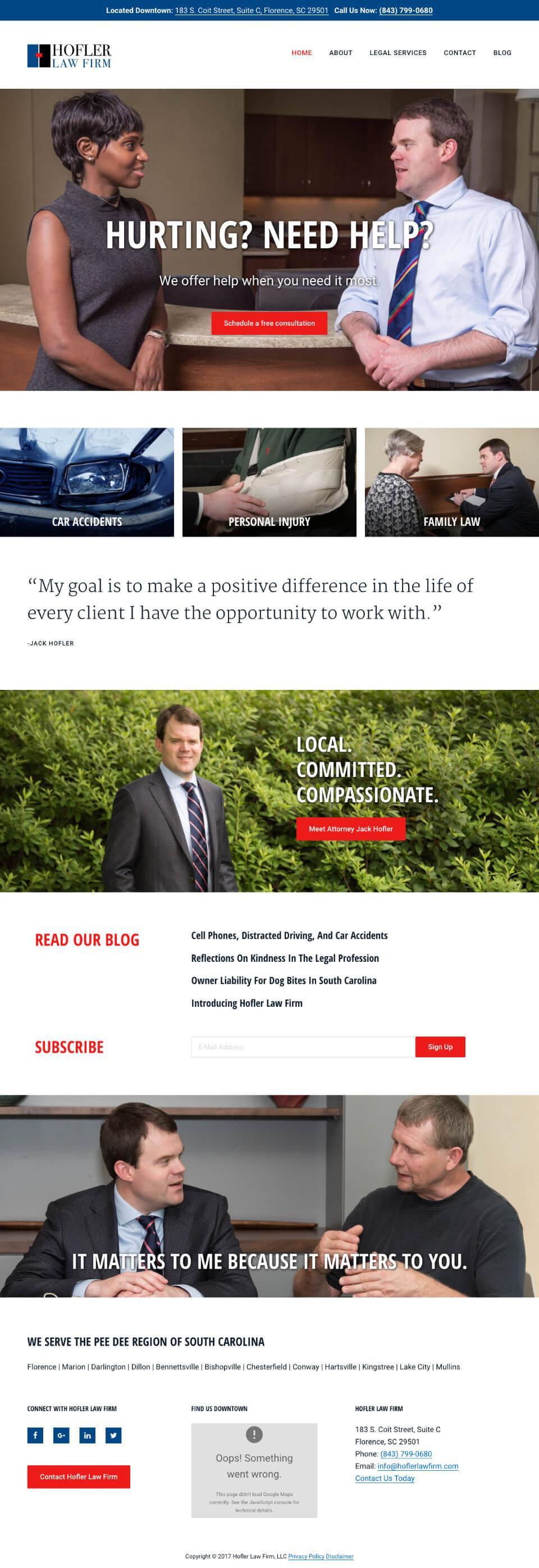 law firm website genesis theme customization