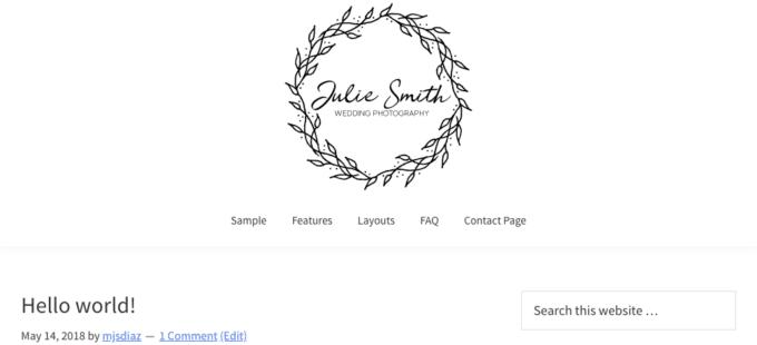logo and menu centered in Genesis 2.6