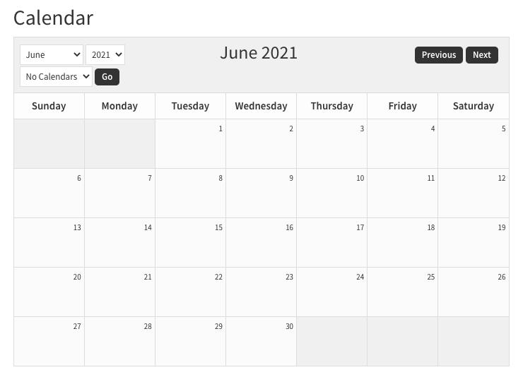 sugar calendar after CSS edits