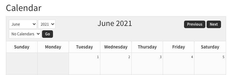 sugar calendar after CSS edits - header only