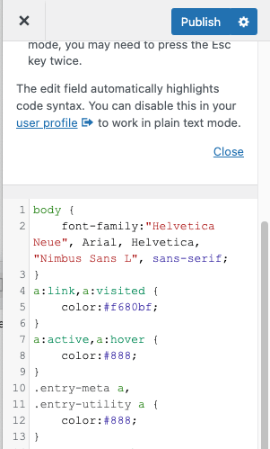 additional css added